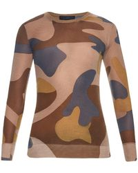 Burberry Prorsum - Camouflage Cashmere And Silk-blend Jumper - Lyst
