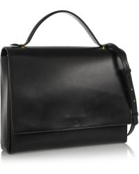 The Row Book Bag Leather Shoulder Bag - Lyst