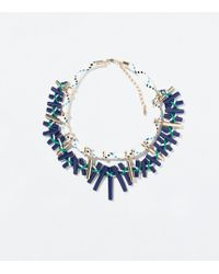 Zara Cord Necklace with Barrel Beads - Lyst