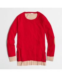 J.Crew Factory Side Button Elbow Patch Sweater in Colorblock - Lyst