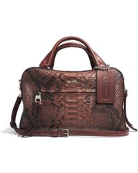 Coach Bleecker Small Toaster Satchel in Python Embossed Leather - Lyst