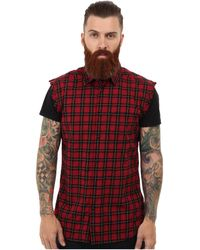 Diesel Sneha Plaid Sleeveless Shirt - Lyst