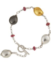 Roberto Coin - 18k Baroque Pearly Pink Tourmaline Bracelet - Lyst