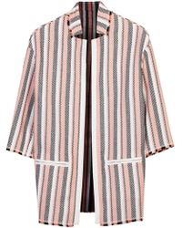 Pinko - Striped Basketweave Jacket - Lyst