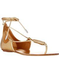 Aquazzura California Flat Sandals - Lyst