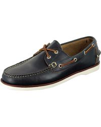 Eastland Freeport Boat Shoe Navy - Lyst