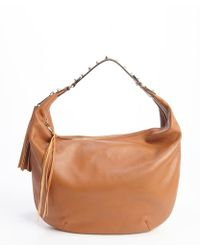 Rebecca Minkoff Almond Brown Leather Expandable Bailey Hobo Bag - Lyst
