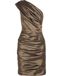 Halston Heritage Taffeta Dress - Lyst