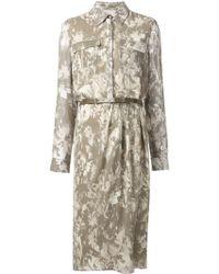 Jason Wu Print Shirt Dress gray - Lyst