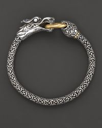 John Hardy Naga 18K Gold And Sterling Silver Dragon Bracelet - Lyst
