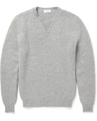 Exemplaire Knitted Cashmere Crew Neck Sweater - Lyst