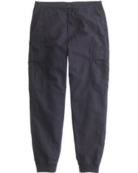 J.Crew Cargo Jogger Pant In Cotton-Linen blue - Lyst