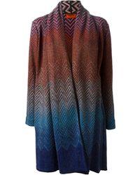 Missoni Zig Zag Crochet Knit Open Front Cardigan - Lyst