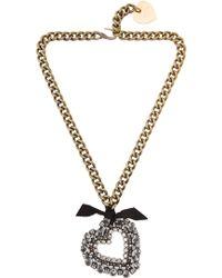 Lanvin Mira Heart Pendant Necklace - Lyst