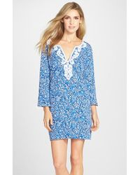 Lilly Pulitzer - 'julianna' Embroidered Print Tunic Dress - Lyst