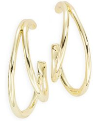 Karen Kane - Double Layered Hoop Earrings - Lyst