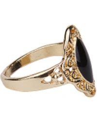 AKIRA - Feelin Handsy Rings Set - Gold - Lyst