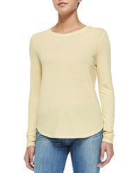 Vince Crewneck Tee W/ Slouched Sleeves - Lyst