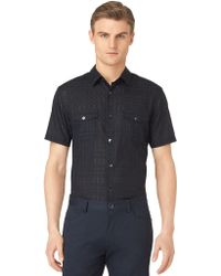 Calvin Klein Modern Fit Ghost Check Sport Shirt - Lyst