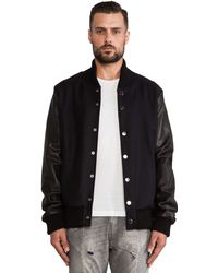 Pierre Balmain Jacket with Leather Arms - Lyst