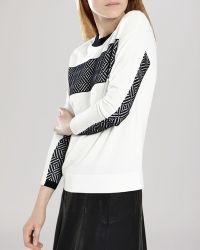 Karen Millen Sweater - Op Art Jacquard - Lyst