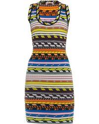 Christopher Kane Tribal-Style Stretch-Knit Dress - Lyst