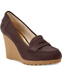 Michael Kors Michael Rory Loafer Wedge Pumps - Lyst