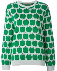Peter Jensen Apple Print Sweater - Lyst
