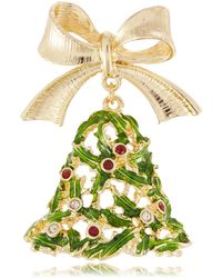 R.j. Graziano - Holiday Tree Bell Brooch - Lyst