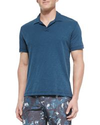 Theory Short-Sleeved Cotton Polo Shirt - Lyst