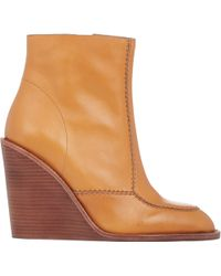 See By Chloé Wedge Ankle Boots beige - Lyst