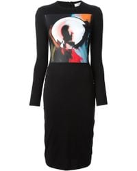 Givenchy Painterly Print Sweater Dress - Lyst