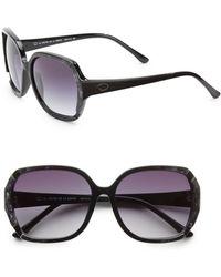 Oscar de la Renta 59mm Round Oversized Sunglasses - Lyst