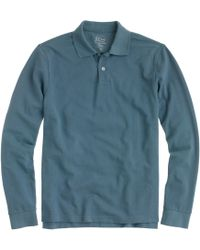 J.Crew Slim Long-sleeve Classic Piqué Polo - Lyst
