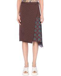 Dries Van Noten Pixel Printed Skirt - For Women - Lyst