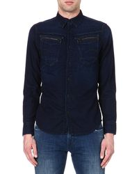 G-star Raw New Riley Denim Shirt Dk Aged - Lyst