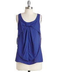 Mezzanine Hello, Bow! Top In Cobalt - Lyst
