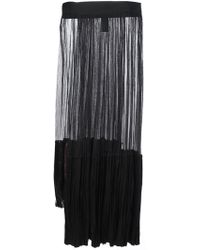 Haider Ackermann Ruched Sheer Panel Skirt - Lyst