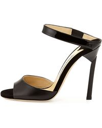 Jimmy Choo Deckle Double-band Leather Slide - Lyst