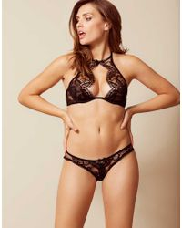 Agent Provocateur Adelia Ouvert Black gold in Black - Lyst 63a41c084