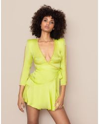 Agent Provocateur - Ebby Short Dress Lime - Lyst