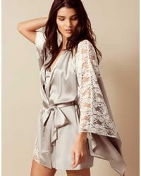 Agent Provocateur - Nayeli Kimono Ivory And Silver - Lyst