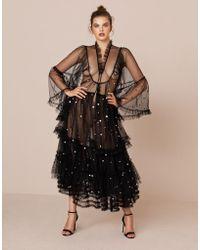 Agent Provocateur - Roanne Long Gown Black - Lyst