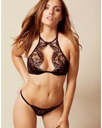 Agent Provocateur - Kendall High Neck Underwired Bra - Lyst