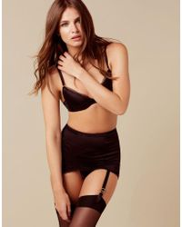Agent Provocateur - Felinda Fifties Style Suspender Black - Lyst