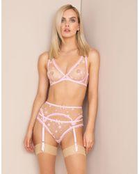 Agent Provocateur - Luxx Suspender Pink - Lyst