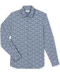 agnès b. - Blue Flowers Print Cotton Andy Shirt - Lyst