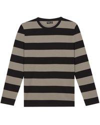 agnès b. - Kaki Striped Jersey Coulos T-shirt - Lyst