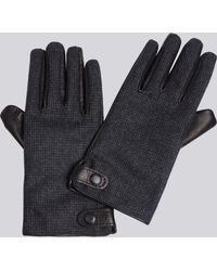 agnès b. - Wool And Leather William Gloves - Lyst