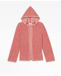 agnès b. Red Heather Jersey Burnous Jacket